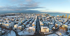 View of Reykjavik from Hallgrímskirkja (George Pachantouris) Tags: iceland north arctic cold winter snow white ice frozen freeze reykjavik nordics hallgrímskirkja