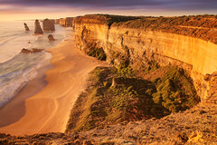 The Golden Apostles || GREAT OCEAN ROAD || AUSTRALIA (rhyspope) Tags: australia aussie vic victoria gor great ocean road 12 apostles sea water view vista sunset golden cliff torist travel rhys pope rhyspope canon 5d mkii princetown melbourne beach color colour light nature amazing wow