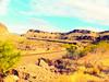 Dropping thru Kingman Canyon (Woodypug) Tags: transcon train landscape arizona bnsf kingmancanyon mohave county westbound