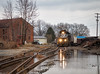 Wet Work (Wheelnrail) Tags: ns norfolk southern l55 high hood sou train trains emd gp382 locomotive flooding flood water circleville freight rails ohio local cloudy panhandle prr branch line