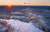 Sunrise from the Cliff Trail (Derek Boen) Tags: sunrise pennsylvania tree snow winter