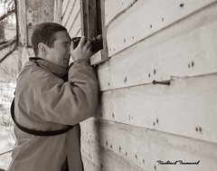 The Photographer (Flashback Framework) Tags: monochrome camera picture people peeking spy capture