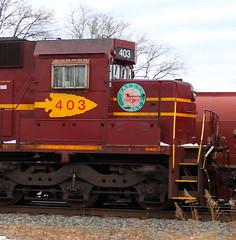 DMIR 403, Cab, Adams, Neenah, 24 Feb 18 (kkaf) Tags: neenah adams dmir logo sd40t3 tunnelmotor a404