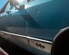 Chrysler New York (Zach K) Tags: car auto vehicle brooklyn new york nyc bedstuy bedfordstuyvesant turquoise blue sky skyblue chrysler newyorker fancy wheels fujifilm fuji x100f sunspot glare off paint