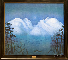 L'origine d'une larme/The source of a tear/Källan av en tår (Elf-8) Tags: norway oslo nationalgallery painting norwegian romanticism landscape blue moutain harald sohlberg