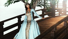 Going or coming... (Alexa Maravilla/Spunknbrains) Tags: ersch we3roleplay exile silvanmoondesigns empyreanforge fameshed fuubutsudou hayabusadesign anlarposes secondlife sl outdoors bridge gown blogger model