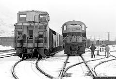The Workday Begins (jamesbelmont) Tags: alco rsd5 provo utah utahrailway caboose railway crew engineer fireman monochrime