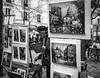 Montmartre (fannymejean) Tags: peinture sonyphotographing sony blackandwhite noiretblanc france peintre montmartre paris