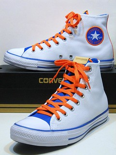 Old-School Style Never Looked So Fly! - White, Soar Blue & Bold Mandarin Orange Hi 156499C