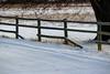 Balance [Explored] (Jessie T*) Tags: snow winter fence road tree fencerails tracks grass fencedfriday