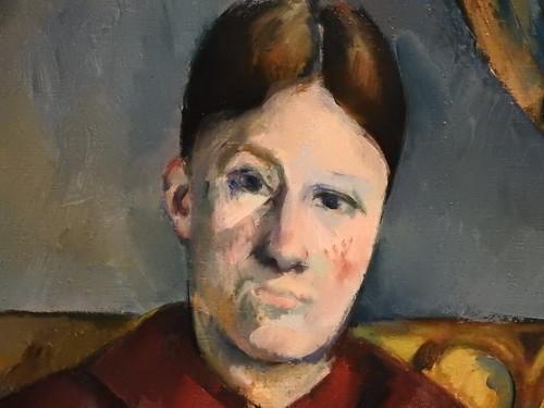 CEZANNE,1888-90 - Madame Cézanne au Fauteuil jaune (3) (New York) - Detail 43