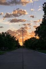 Early. (emiluna1) Tags: landscape paisaje nikon argentina cielo sky clouds bluesky sun street