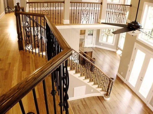 Staircase built and installed by AndronX, premier stair builders in Charlotte NC