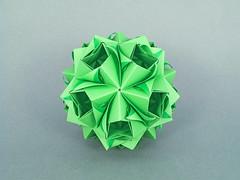 Oriental (masha_losk) Tags: kusudama кусудама origamiwork origamiart foliage origami paper paperfolding modularorigami unitorigami модульноеоригами оригами бумага folded symmetry design handmade art