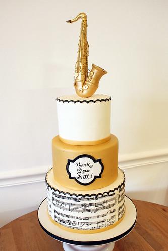 Saxophone Musician Cake