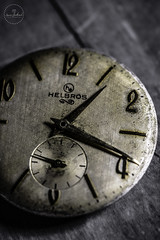 IMG_5557logo (Annie Chartrand) Tags: watch pocketwatch time clock macro movement numbers dial face hands stilllife antique old classic jewelry helbros