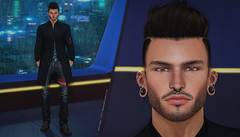 { Oscar } ({ Max Hades }) Tags: head bento skin applier body eyes hair base jacket ears piercing coat jeans boots clef de peau arise swallow volthair legal insanity equal secrets