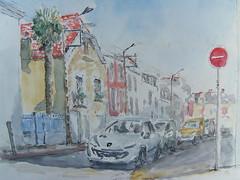 Rue Jeanne d'Arc (christian angué) Tags: aquarelle