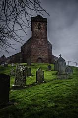 St Vigeans Church (daedmike) Tags: arbroath scotland angus church chapel stvigeans village parish medieval rain clouds sandstone graves grass tombstones cemetery