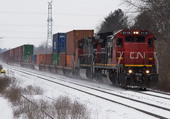 CN 2118E, CN 148 (Joseph Bishop) Tags: cn 2118 ge c408 copetown cndundassubdivision trains train track t tracks railfan railroad railway rail rails