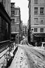Winter (MF[FR]) Tags: street city sidewalk road winter hiver paris snow france europe ile de samsung nx1 rue neige noir et blanc black white des ursins vide empty