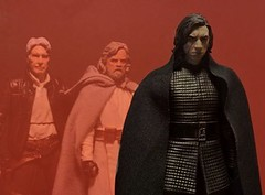Let the past die... (chevy2who) Tags: inch inc six figure action toyphotography toy series black wars star skywalker luke han solo ben ren kylo