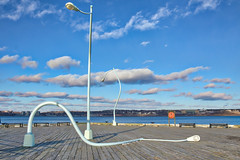 """Fountain"" and the diptych ""Got Drunk, Fell Down""—are part of a series entitled The Way Things Are - Public Art on the Halifax Waterfront, Halifax Nova Scotia (internat) Tags: 2018 canada novascotia ns halifax downtown waterfront eosm5 aurorahdr hdr publicart clouds"