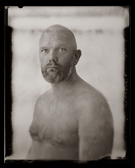 .. (biancavanderwerf) Tags: new55 analoog analog analogue largeformat polaroid naked nude man bold blackandwhite bw portrait portraiture