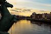 On the river Liffey (rafpas82) Tags: dublin dublino ireland republicofireland irland irlanda horse cavallo sulponte onthebridge sunset orange tramonto arancione fiume liffey riverliffey city città acqua fuji fujinon x100t fujifilmx100t fromthebridge nuvole clouds