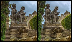Enchanted park 3-D / CrossView / Stereoscopy / HDR / Raw (Stereotron) Tags: sachsenanhalt saxonyanhalt ostfalen harz mountains gebirge ostfalia hardt hart hercynia harzgau castle park sculpture skulptur märchen burg brunnenfigur europe germany crosseye crosseyed crossview xview cross eye pair freeview sidebyside sbs kreuzblick 3d 3dphoto 3dstereo 3rddimension spatial stereo stereo3d stereophoto stereophotography stereoscopic stereoscopy stereotron threedimensional stereoview stereophotomaker stereophotograph 3dpicture 3dglasses 3dimage twin canon eos 550d yongnuo radio transmitter remote control synchron kitlens 1855mm tonemapping hdr hdri raw