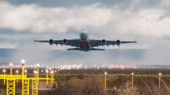 A6-EER Emirates Airbus A380 (Ian Marsh 787) Tags: a6eer emirates airbus a380 aviation airplane airliner plane planes jet planespotting pilot rotate manchester airport runway nikon d300 nikkor afs 300mm f4