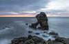 Predawn at easington beach (Steven Peachey) Tags: seascape coast beach predawn northeastcoast northeastengland canon5dmarkiv canon ef24105mmf4l easingtonbeach shotrock leefilters lee09gnd stevenpeachey rockformation morning
