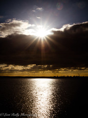 Bedhampton Wharf-3 (broadswordcallingdannyboy) Tags: bedhampton sun sparkle sunlight hampshire cloud sunset water portsmouth wharf mood atmosphere light 1740mm f22 eos7d wideangle seascape southcoast havant winterlight ocean sunlightsparkle copyrightleonreillyphotography donotcopy