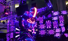 Neon Robot - PARTY! (xx397) Tags: neon robot glow bright color colorful colour party disco rave lights fun music partying toronto dance edm electronic japan japanese glowing cute funny suit costume daft punk daftpunk goth cyberpunk cyber