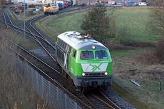 AIX Rail 225 073, Nordhorn Süd, 23 februar 2018 (Bart Donker) Tags: be bentheimer eisenbahn nordhorn süd zbh werkplaats aixrail br215 br225 225073 215073 mietlok huurloc