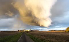 Caprices du climat ! 16:58 pm (Sugar 41) Tags: nuages ciel route nikond500 clouds loircher france paysages climat pluie vent sunlight rain landscape nikkor1424mmf28
