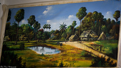 Idyllic country life (kuntheaprum) Tags: cambodianarts crafts painting angkor nikon d750 samyang 85mm f14 nearyrothkunthea