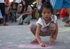 Future Artist (Never.Stop.Searching.) Tags: borsang umbrellafestival chiangmai festival thailand kids girl painting streetart streetpainting squatting