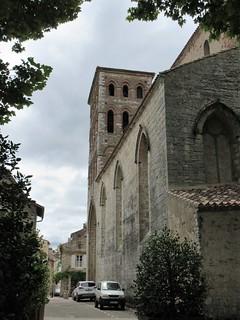 Église Saint-Barthélémy and street from Place Lafayette, Cahors, France