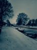 Burgwerd village covered in snow (CloudBuster) Tags: winter snow sneeuw friesland fryslân burgwerd nederland the netherlands ice white cold kou ijs boot bomen trekfeart trekvaart dorp village blackandwhiteonly