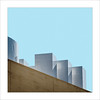 Retallada V / Cut V (ximo rosell) Tags: ximorosell composició color valencia terraza buildings arquitectura architecture abstract abstracció squares spain