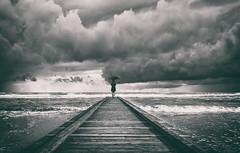 it will rain... (Licht.Bildner) Tags: ostsee art monoschrom schwarzweiss steg wolken clouds nights