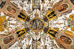 Uffizi Gallery ceiling shot - explored (George Fournaris) Tags: uffizi italy florence firenze art ceiling explore explored
