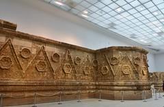 Facade of Qasr Mshatta, Umayyad, 8th cent.; Pergamon Museum, Berlin (10) (Prof. Mortel) Tags: germany berlin pergamonmuseum islamic umayyad mshatta