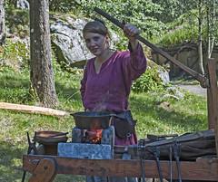 Viking girl (gormjarl) Tags: viking woman girl smith vikingmarket