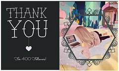 Thanks for 400! (Avery der Rabe) Tags: secondlife 400 followers thankyou blog