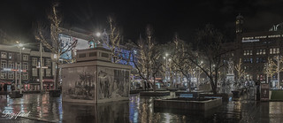 Another look at Rembrandtplein at night.