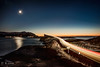 Alantic road evening (Pamaxteam) Tags: atlanticroad atlantic ocean bridge night longexposure pawelkaim kaim pawełkaim space stars moon reflection