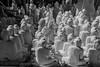 Mandalay Buddahs awaiting assignment (GaryColet) Tags: 2017 buddah burma mandalay myanmar statue bw marble queue stone