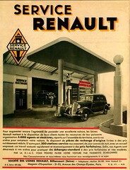 Renault Service Station (1933-34) (andreboeni) Tags: classic car automobile cars automobiles voitures autos automobili classique voiture rétro retro auto oldtimer klassik classica classico publicity advert advertising advertisement renault service garage station forecourt petrol pumps essence monaquatre celtaquatre mona4 celta4